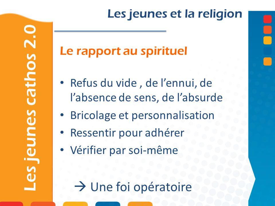 Le rapport au spirituel
