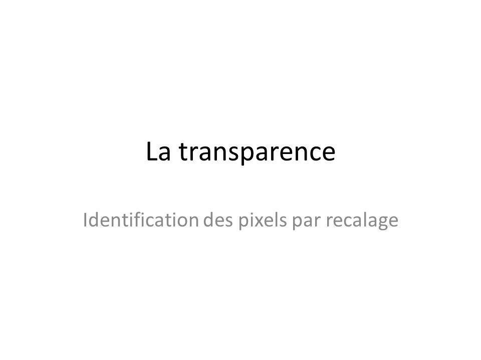 Identification des pixels par recalage