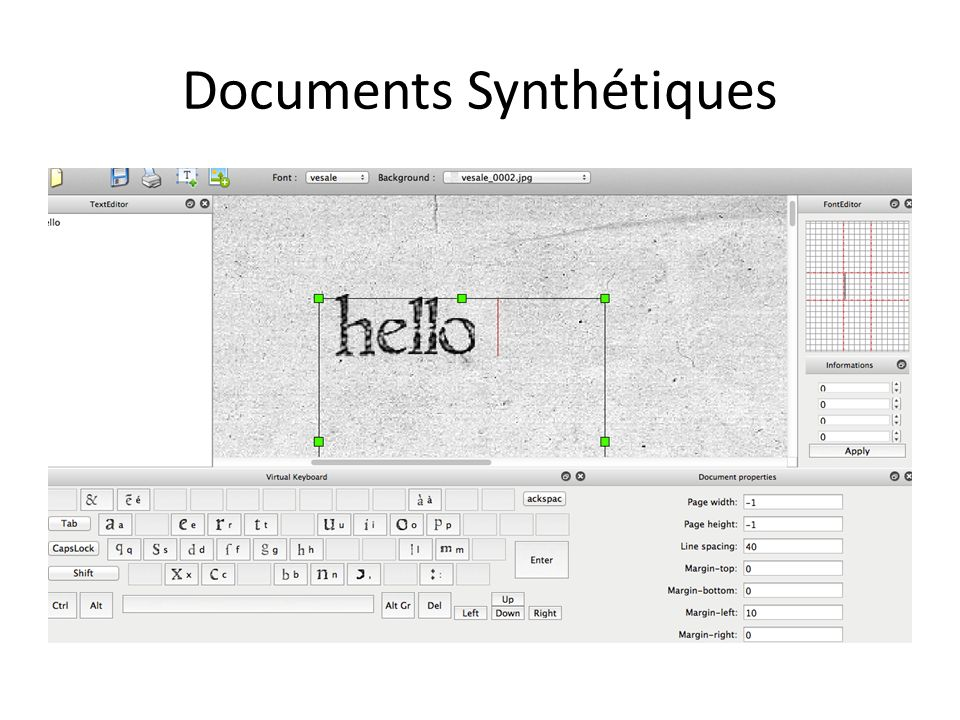 Documents Synthétiques