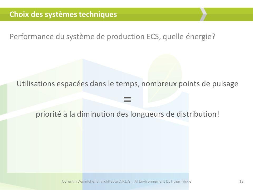 Choix des systèmes techniques