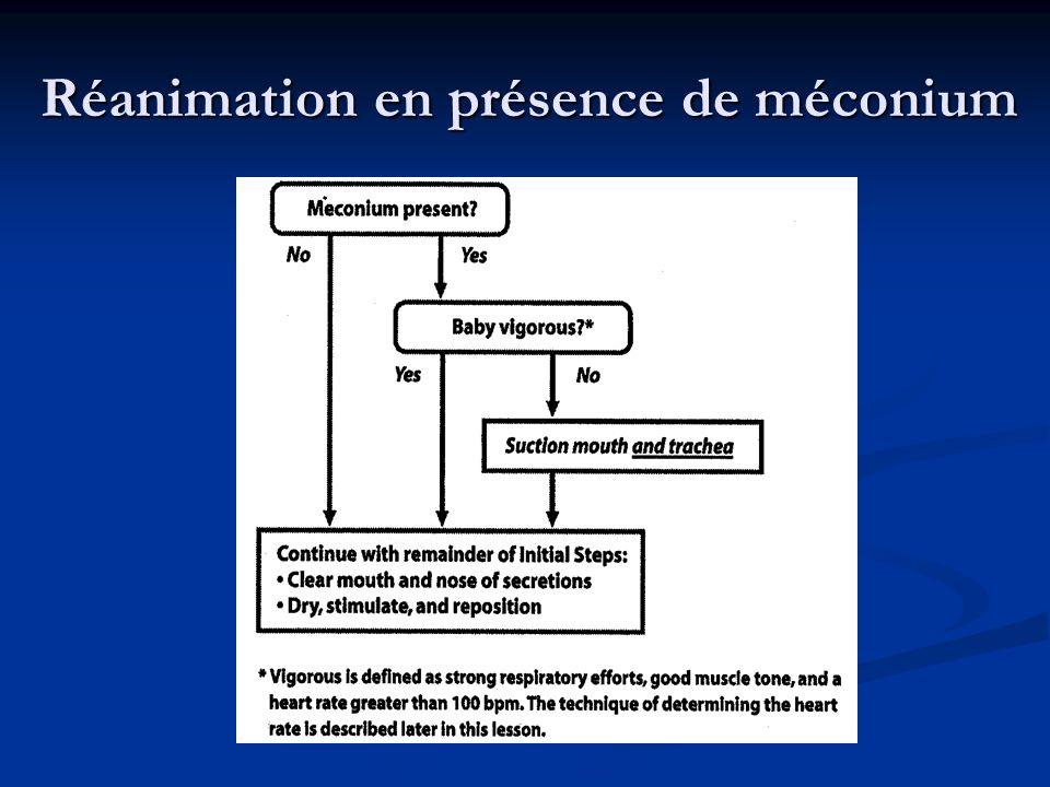 Réanimation en présence de méconium