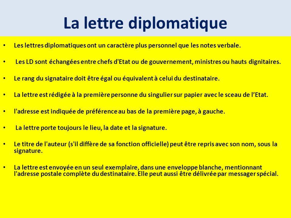 La lettre diplomatique