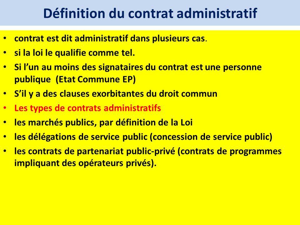 Définition du contrat administratif