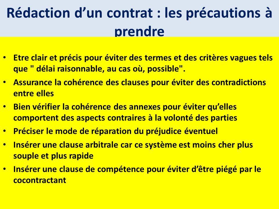 Rédaction d'un contrat : les précautions à prendre