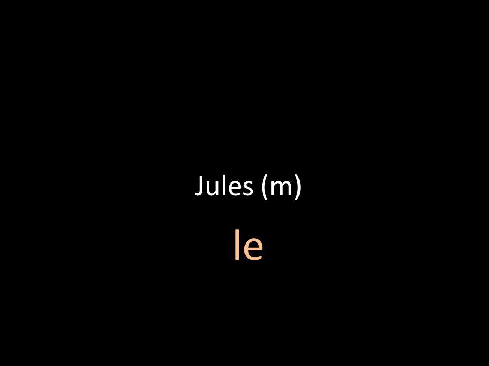 Jules (m) le