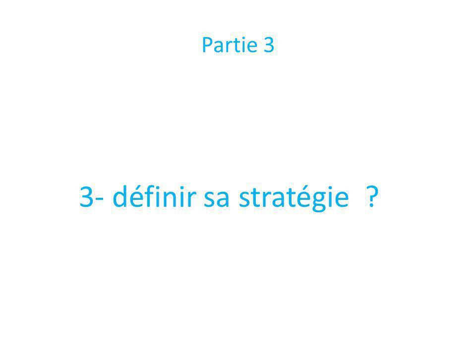 Partie 3 3- définir sa stratégie