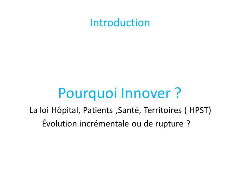 Pourquoi Innover Introduction