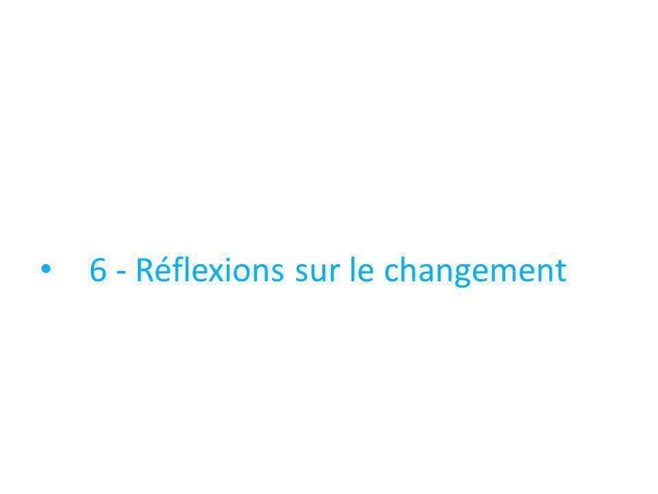 6 - Réflexions sur le changement