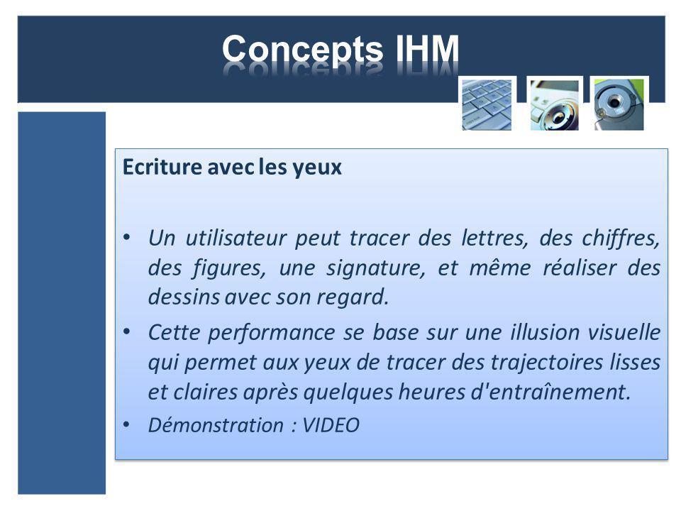 Concepts IHM Ecriture avec les yeux