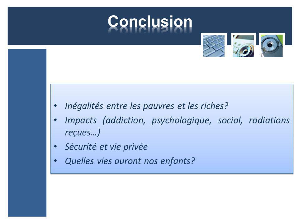 Conclusion Inégalités entre les pauvres et les riches