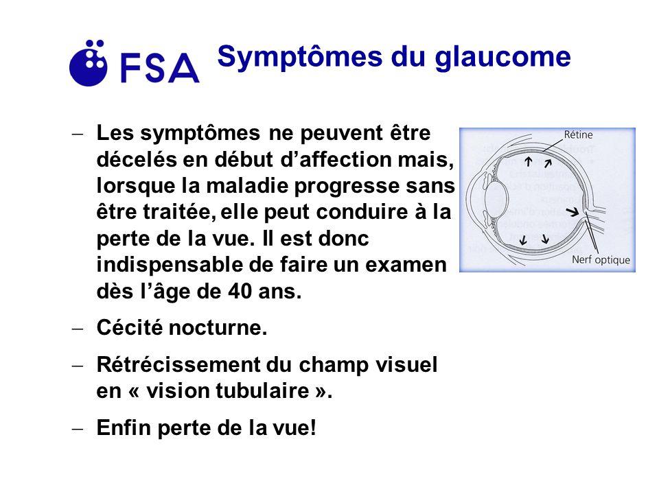 Symptômes du glaucome