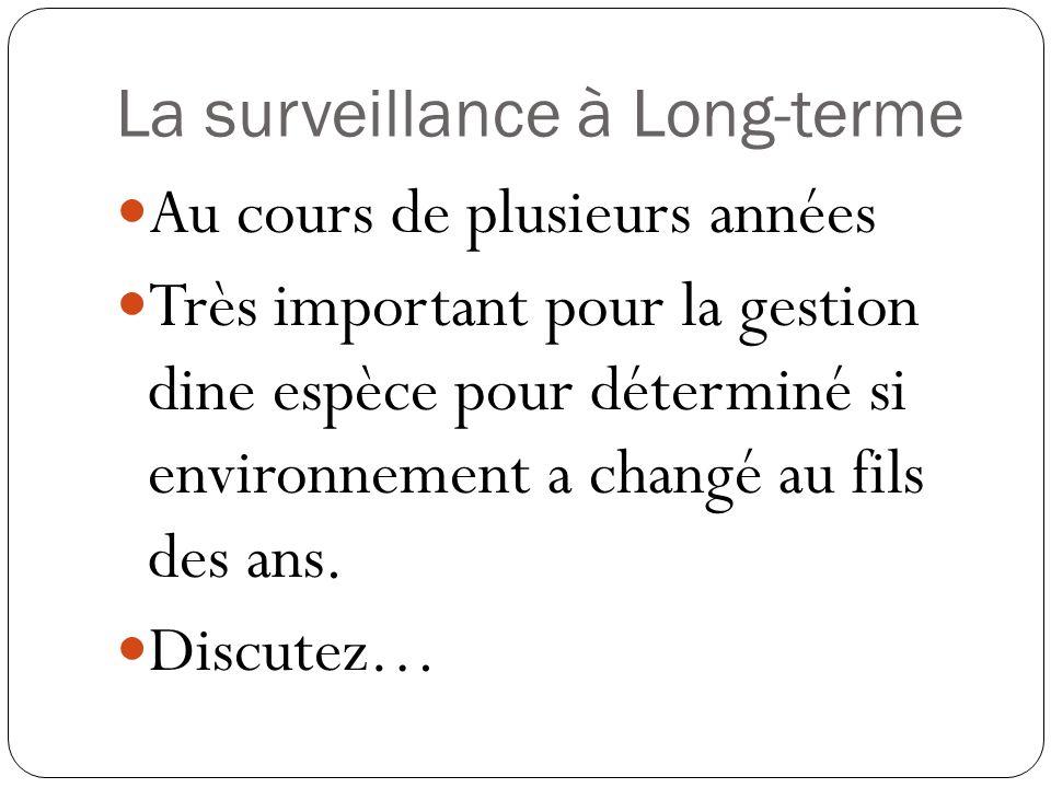 La surveillance à Long-terme