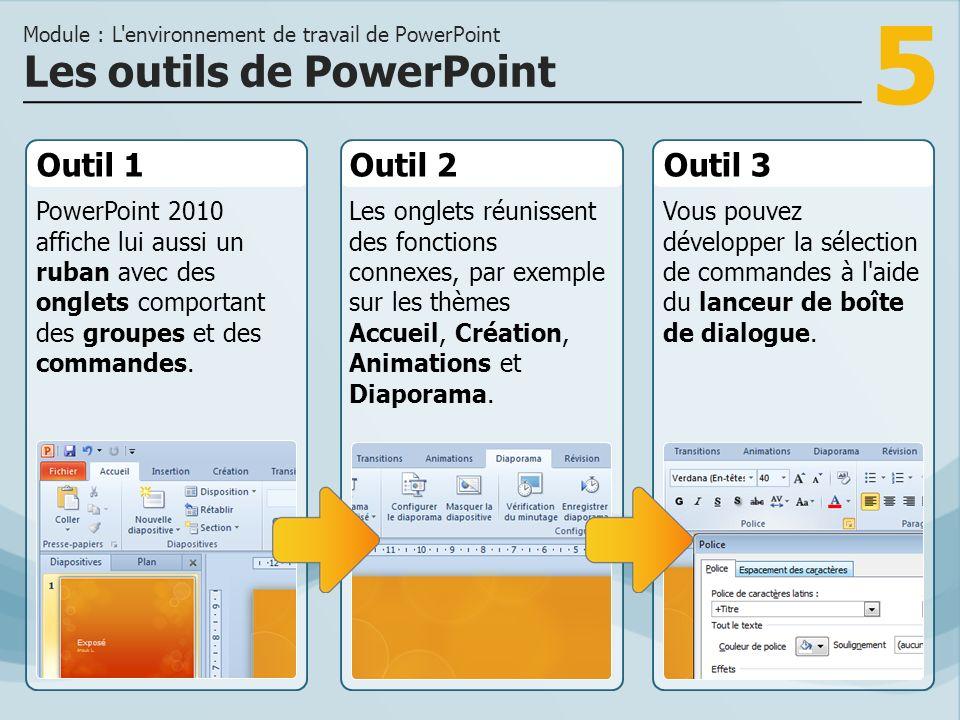 Les outils de PowerPoint