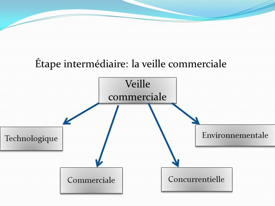 Étape intermédiaire: la veille commerciale