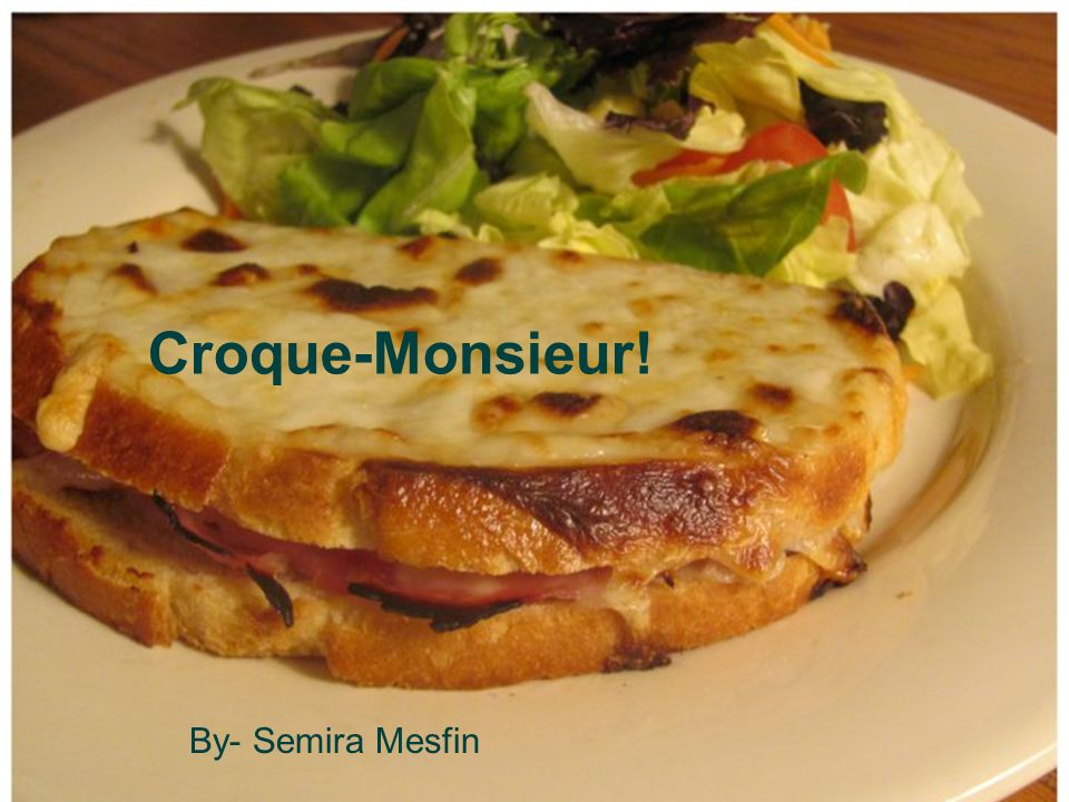 Croque-Monsieur! By- Semira Mesfin