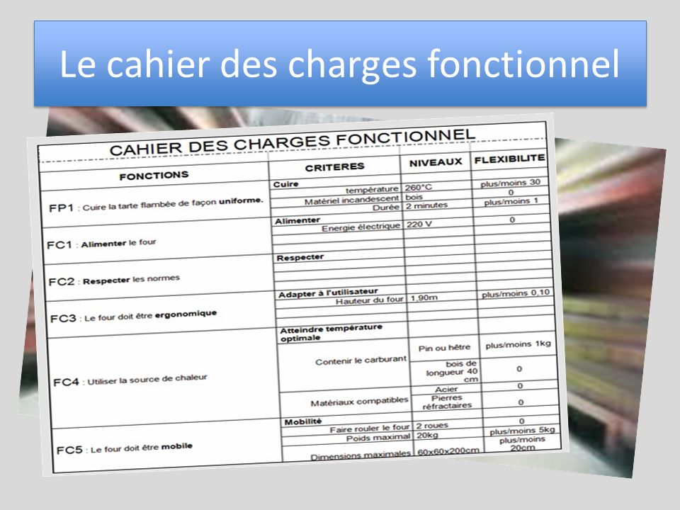 Tape 1 appropriation du cahier des charges ppt t l charger - Definition cahier des charges ...