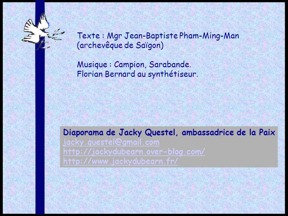 Texte : Mgr Jean-Baptiste Pham-Ming-Man