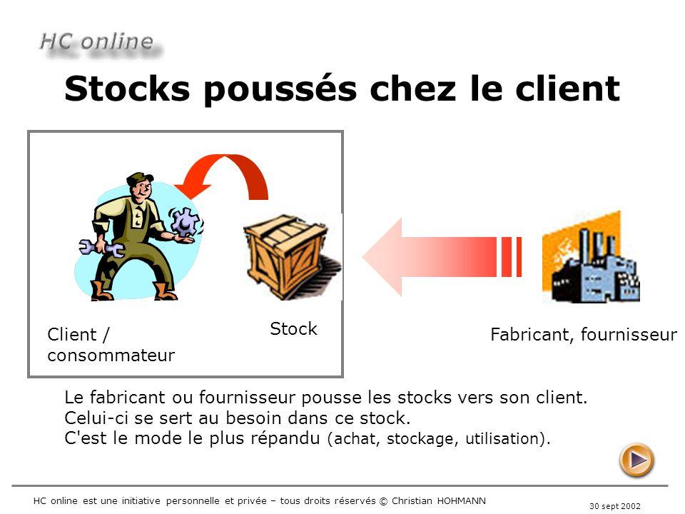 Stocks poussés chez le client