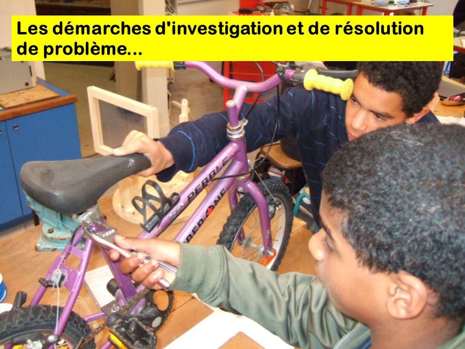 Les démarches d investigation et de résolution de problème...