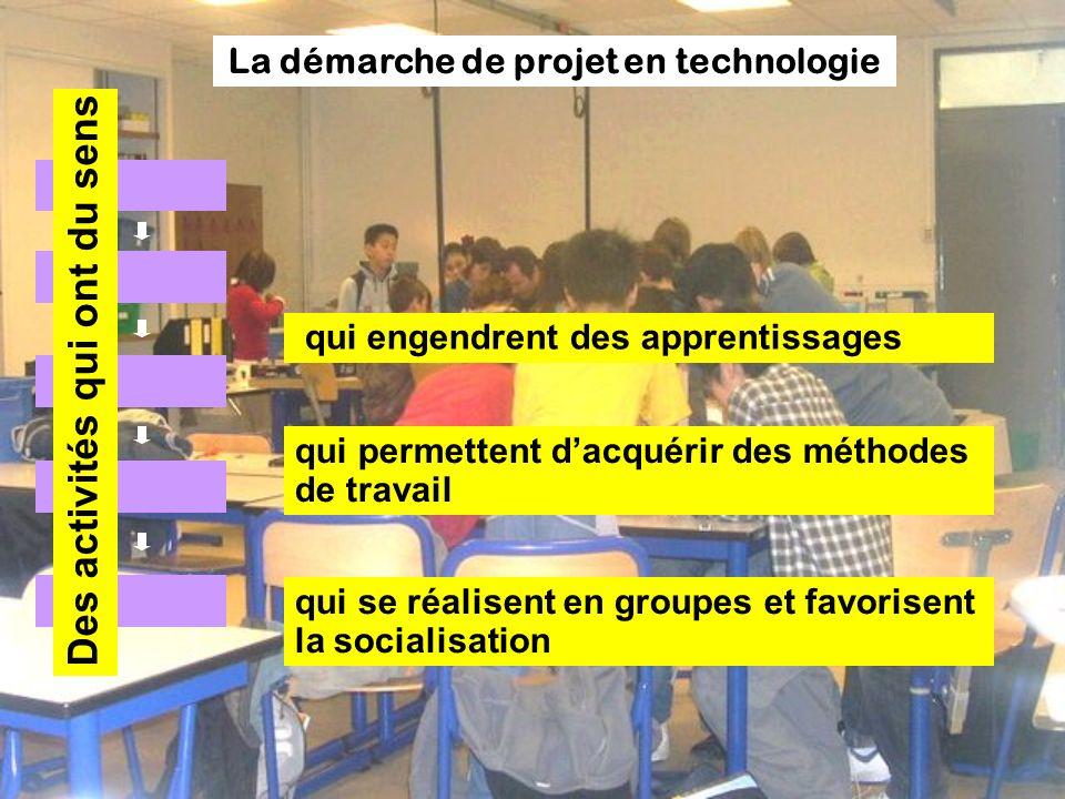 La démarche de projet en technologie