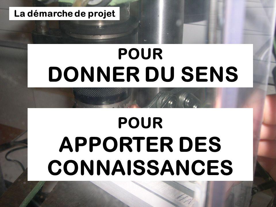POUR APPORTER DES CONNAISSANCES