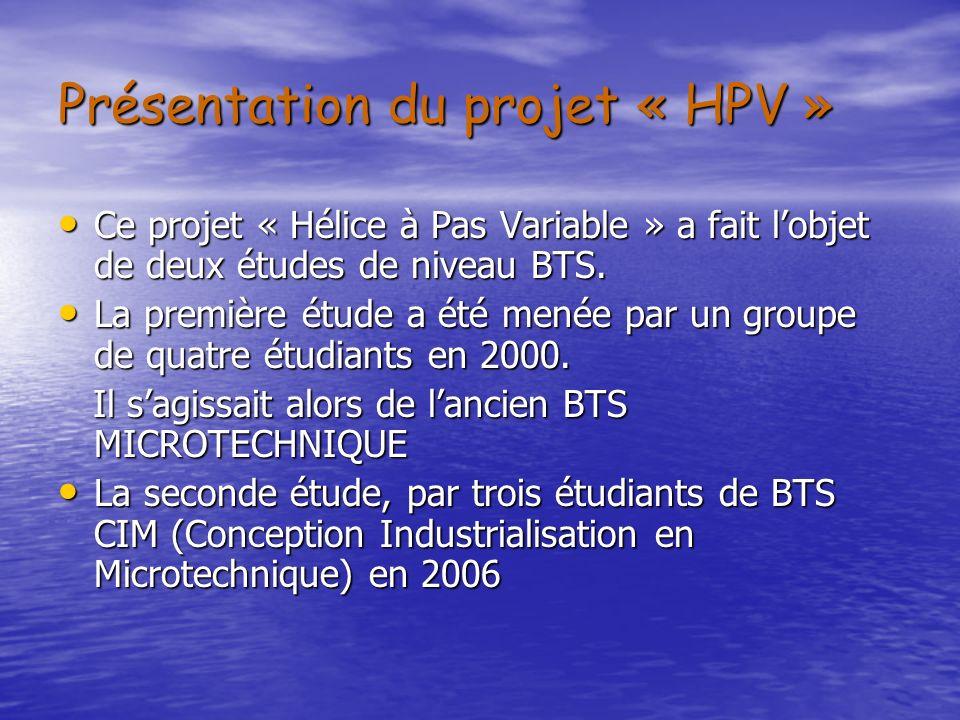 Présentation du projet « HPV »