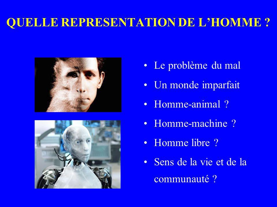 QUELLE REPRESENTATION DE L'HOMME