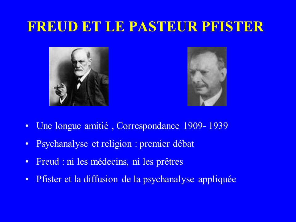 FREUD ET LE PASTEUR PFISTER