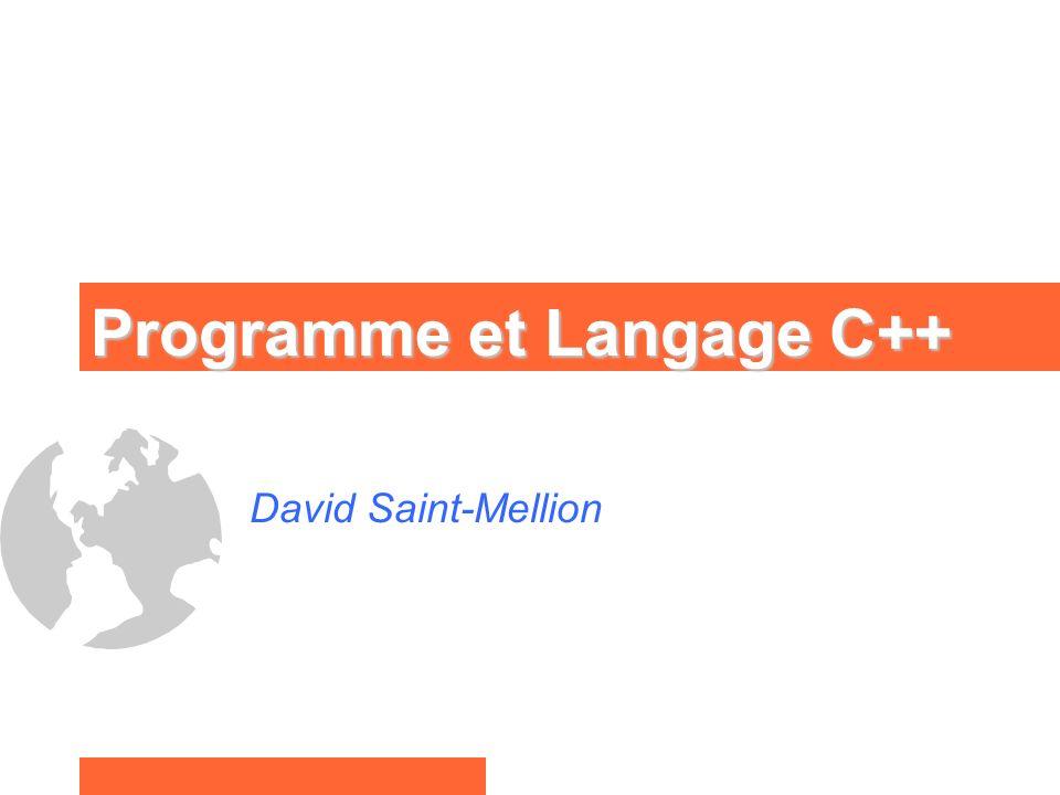 Programme et Langage C++