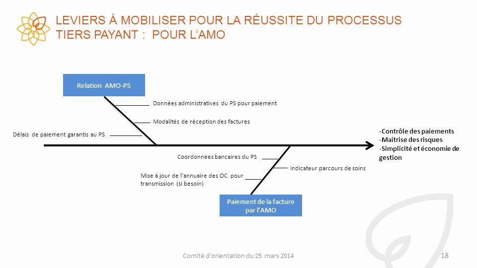 LEVIERS À MOBILISER POUR LA RÉUSSITE DU PROCESSUS TIERS PAYANT : POUR L'AMO