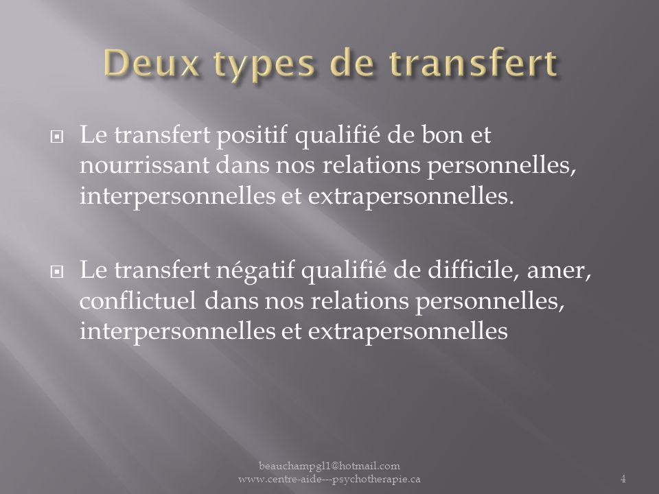 Deux types de transfert