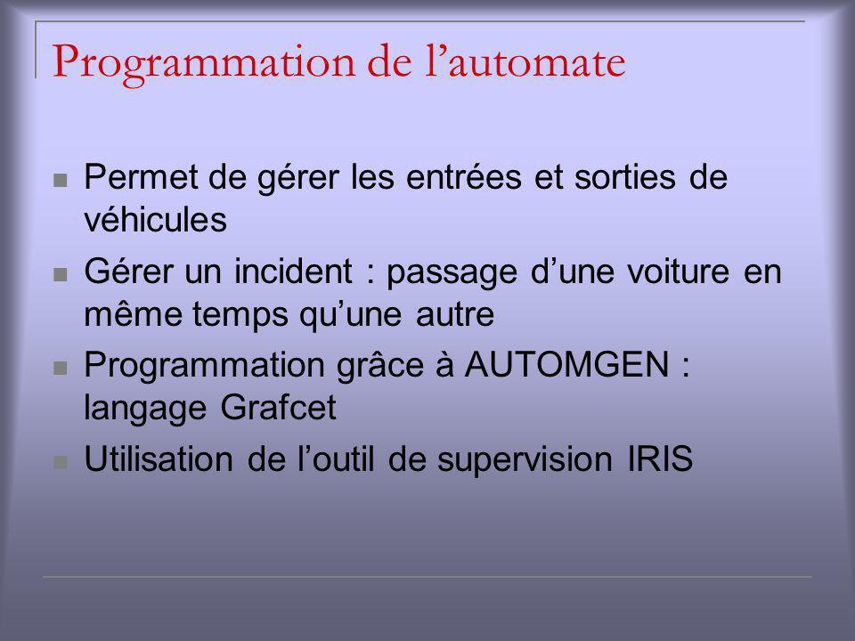 Programmation de l'automate