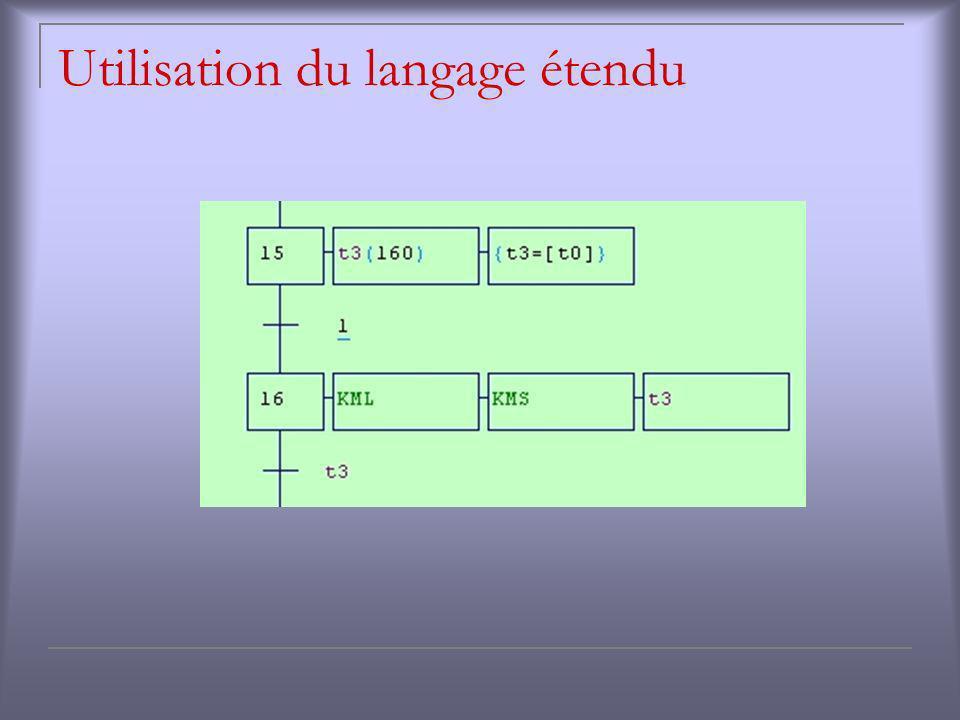 Utilisation du langage étendu