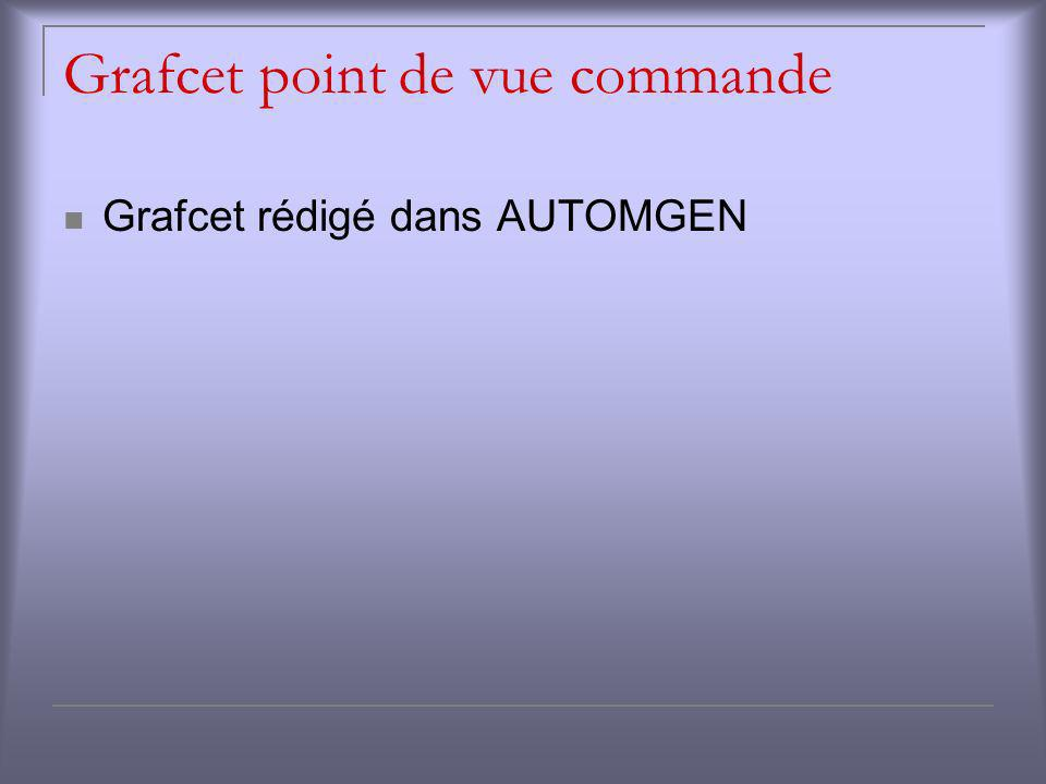 Grafcet point de vue commande