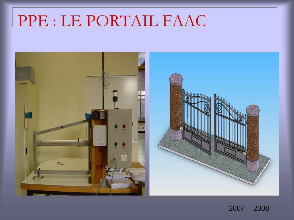 PPE : LE PORTAIL FAAC 2007 – 2008
