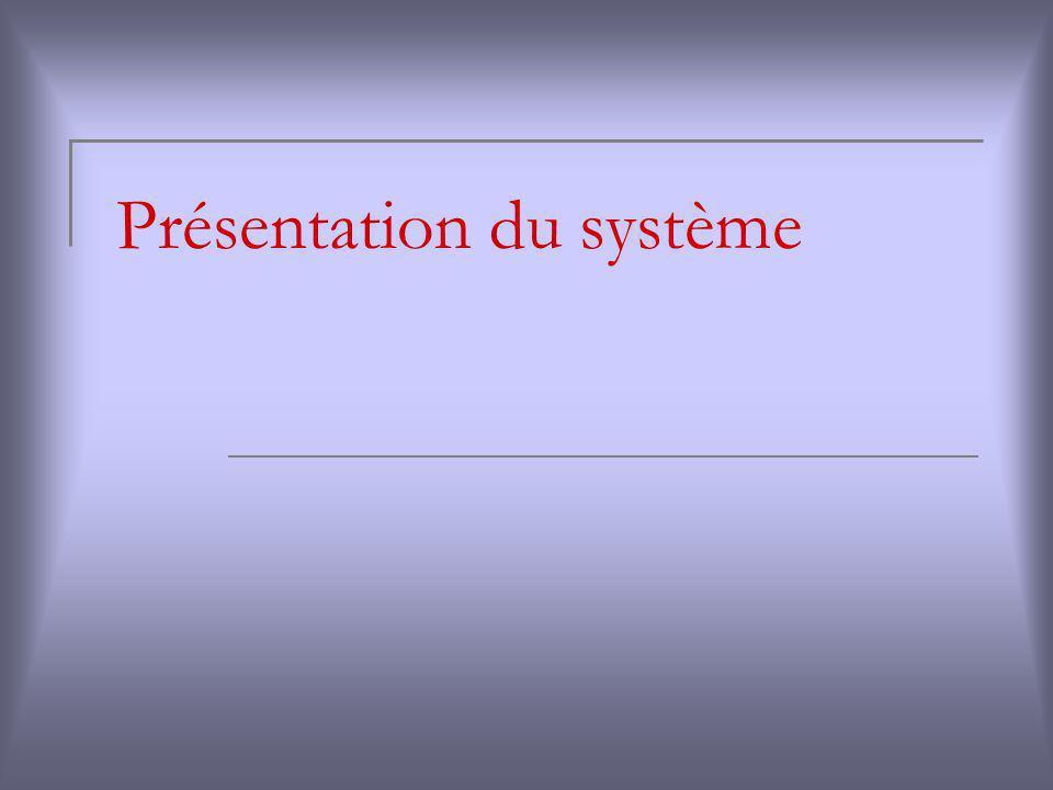 Présentation du système
