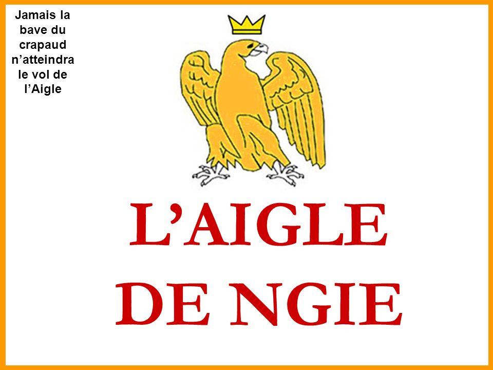 Jamais la bave du crapaud n'atteindra le vol de l'Aigle