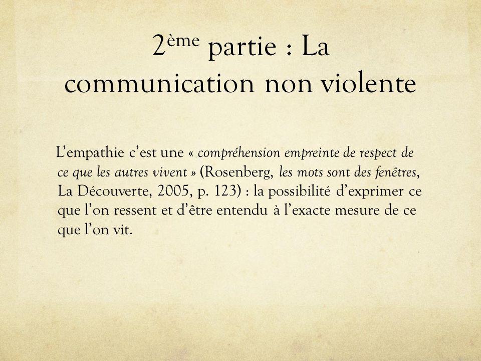2ème partie : La communication non violente
