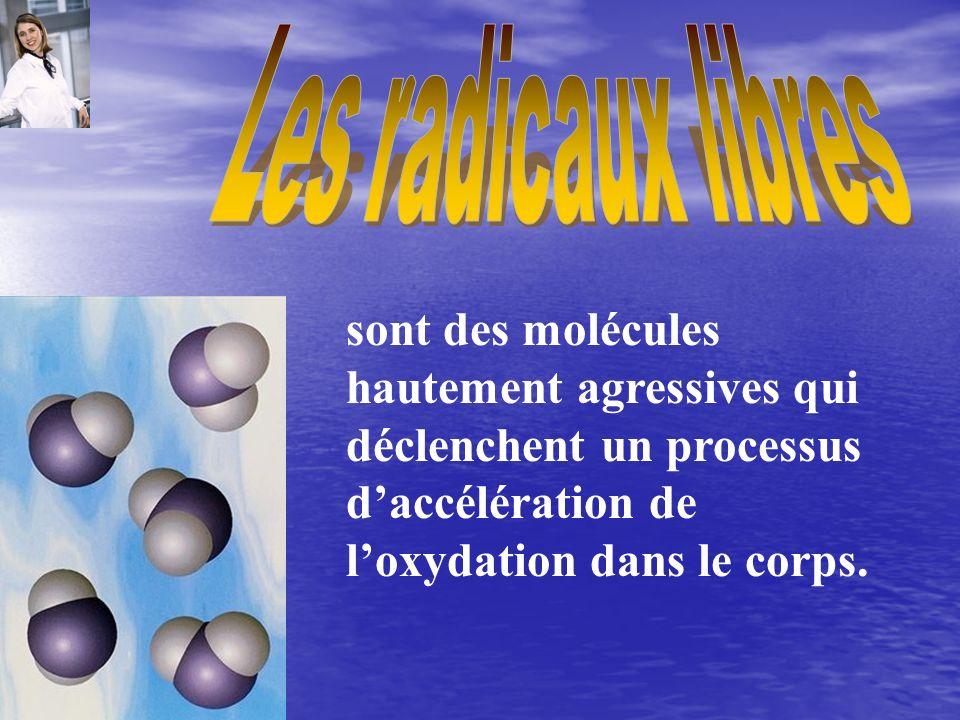 Les radicaux libres sont des molécules hautement agressives qui déclenchent un processus d'accélération de l'oxydation dans le corps.
