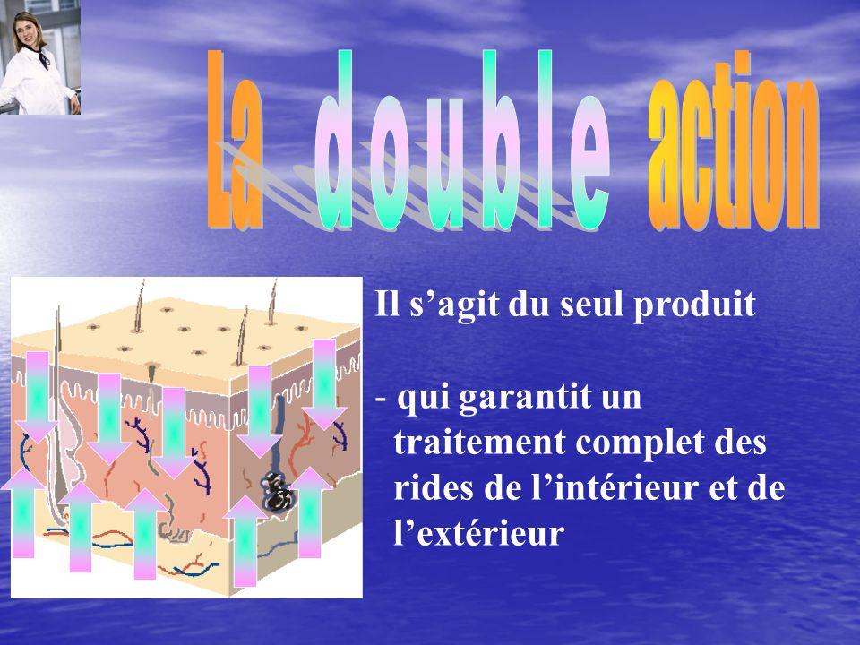 La action double Il s'agit du seul produit qui garantit un