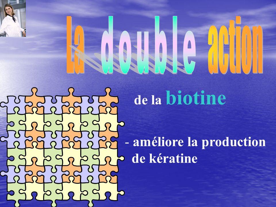 La action double de la biotine améliore la production de kératine