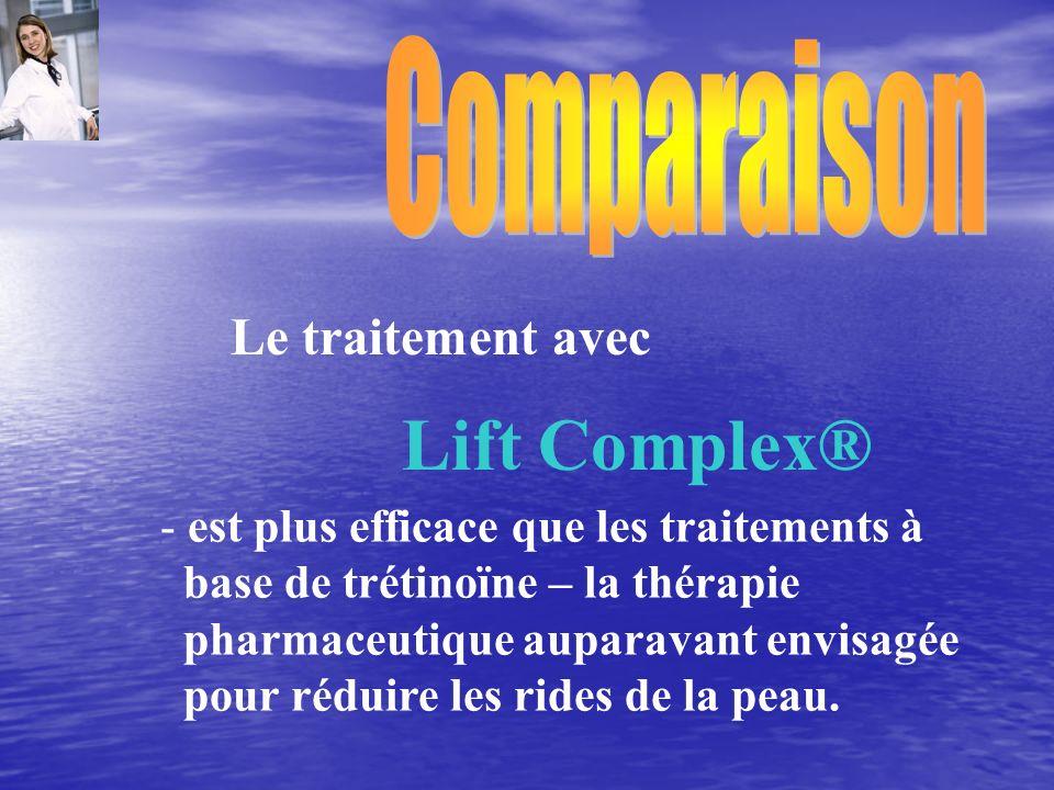 Comparaison Le traitement avec est plus efficace que les traitements à