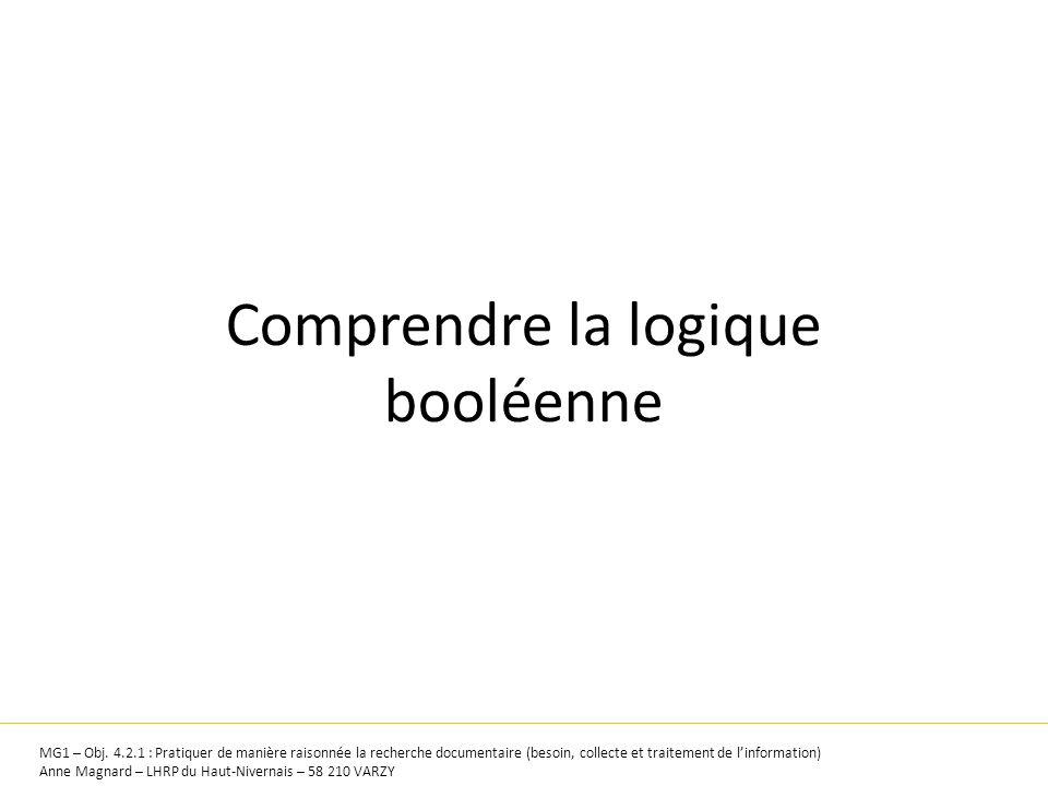 Comprendre la logique booléenne