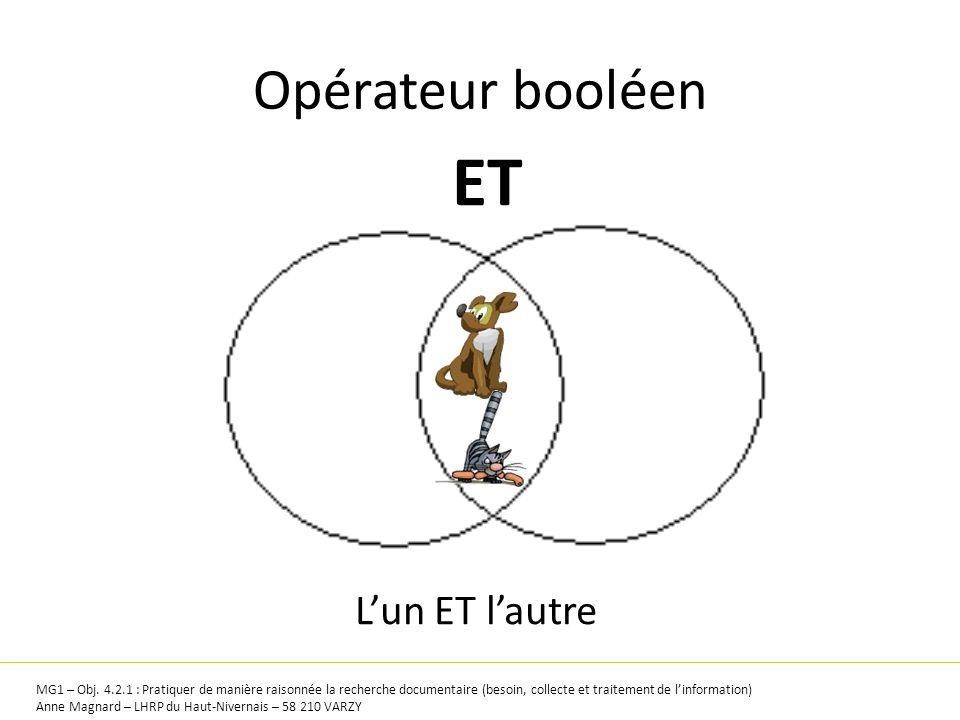 ET Opérateur booléen L'un ET l'autre