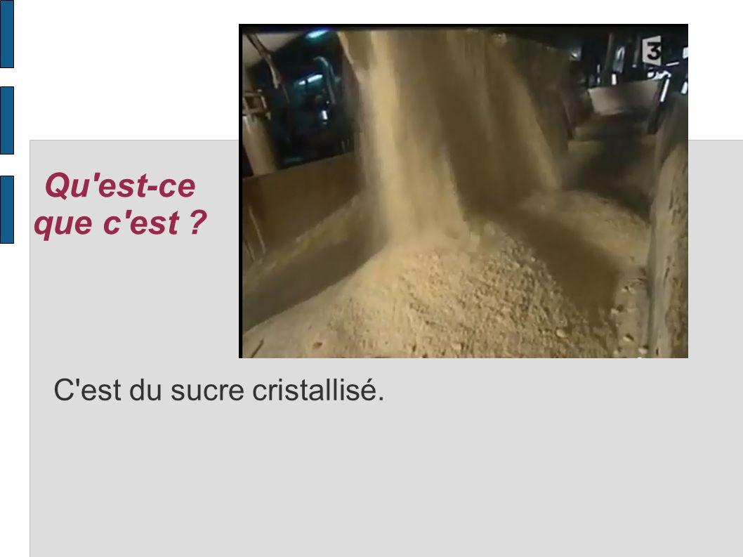 Qu est-ce que c est C est du sucre cristallisé.