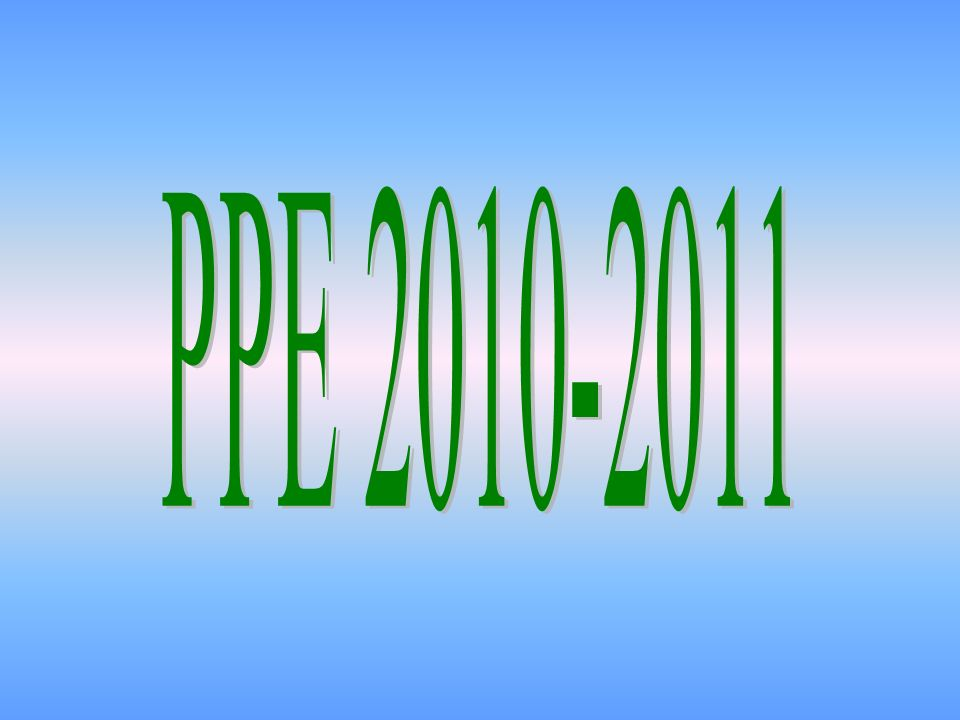 PPE 2010-2011