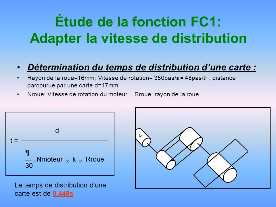 Étude de la fonction FC1: Adapter la vitesse de distribution