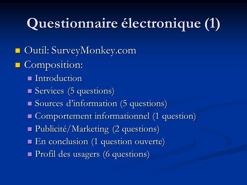 Questionnaire électronique (1)
