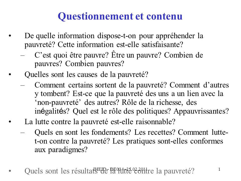 Questionnement et contenu