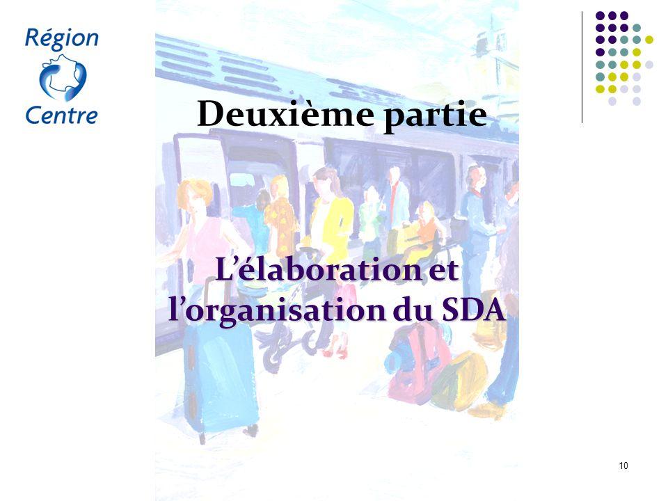 L'élaboration et l'organisation du SDA